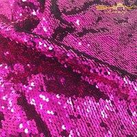 Shinybeauty pailletten stoff meerjungfrau fuchcia und silber zwei-wege-reversible pailletten stoff für diy brautkleid prom abendkleid