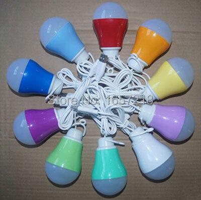 10pcs USB Interface Mobile led lamp light AC12V 5W Mobile LED Bulb Lamp Light Outdoor Lighting Tourist tent lights bulbs