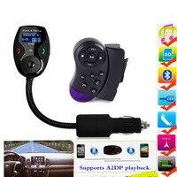 Steering Wheel Universal LCD Display Bluetooth Wireless Car MP3 FM Transmitter Modulator Radio Adapter Handsfree Car