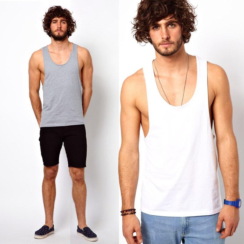 2578d5d23340d9 2014 New summer Men Modal sexy racerback tank top male regata masculina  undershirt loose t-shirt Sizes M-XXL