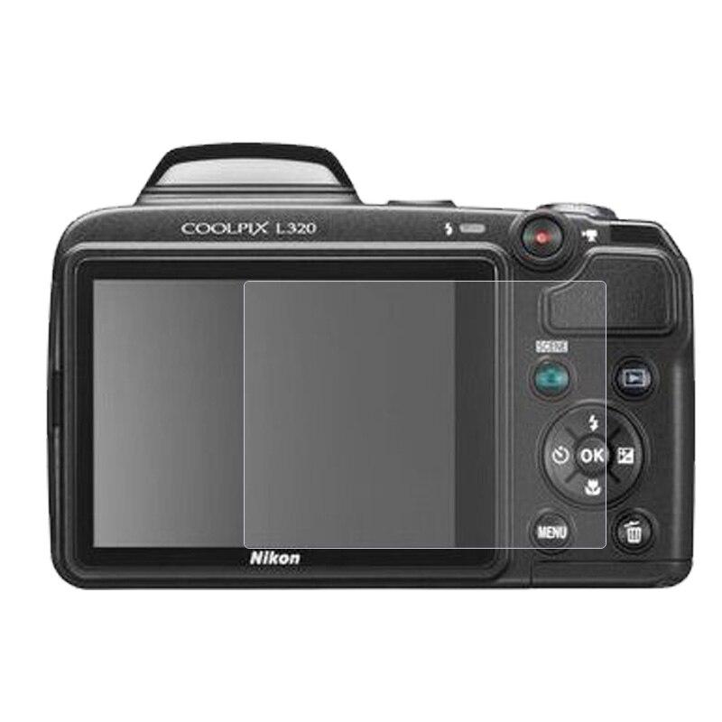 2pcs/lot 9H Tempered Glass Screen Protector Film For Nikon L320 L330 L340...