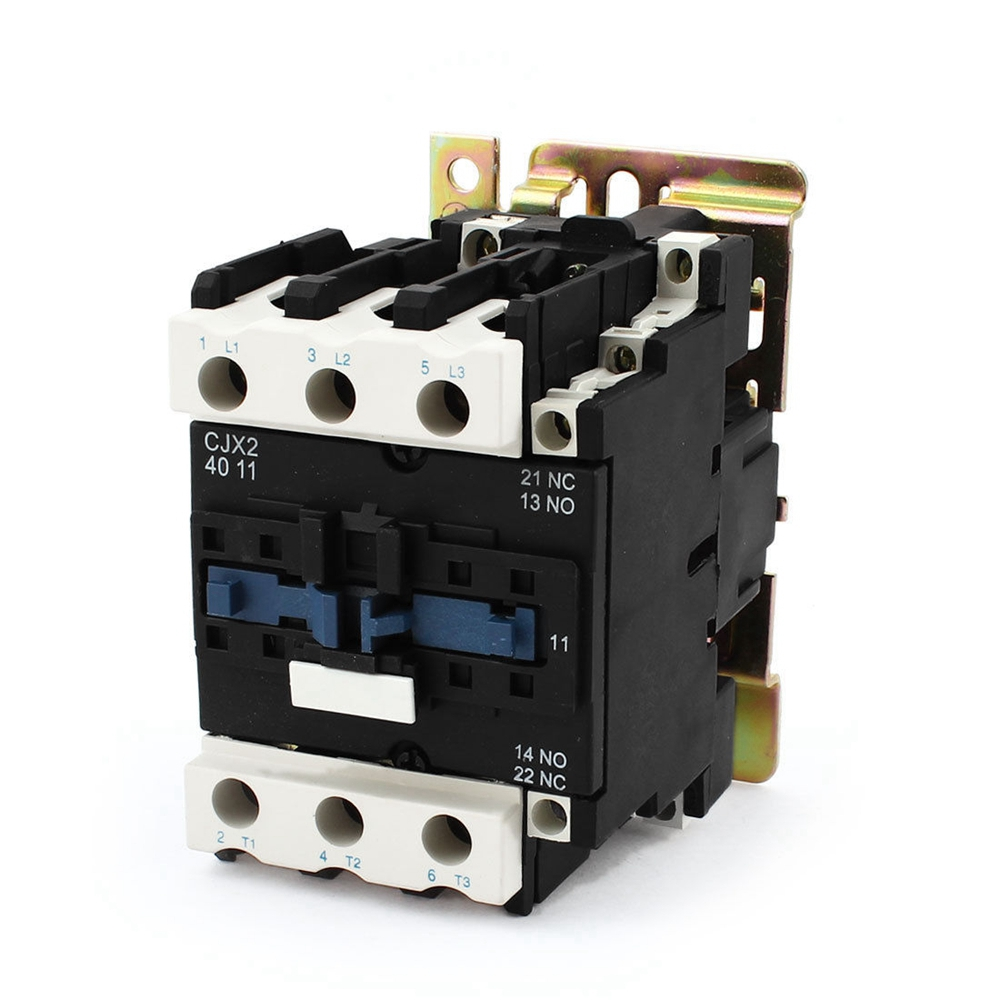 Rated Current 40A 3Poles+1 NC+1NO 24VAC Coil Voltage AC Contactor Motor Starter Relay DIN Rail MountRated Current 40A 3Poles+1 NC+1NO 24VAC Coil Voltage AC Contactor Motor Starter Relay DIN Rail Mount