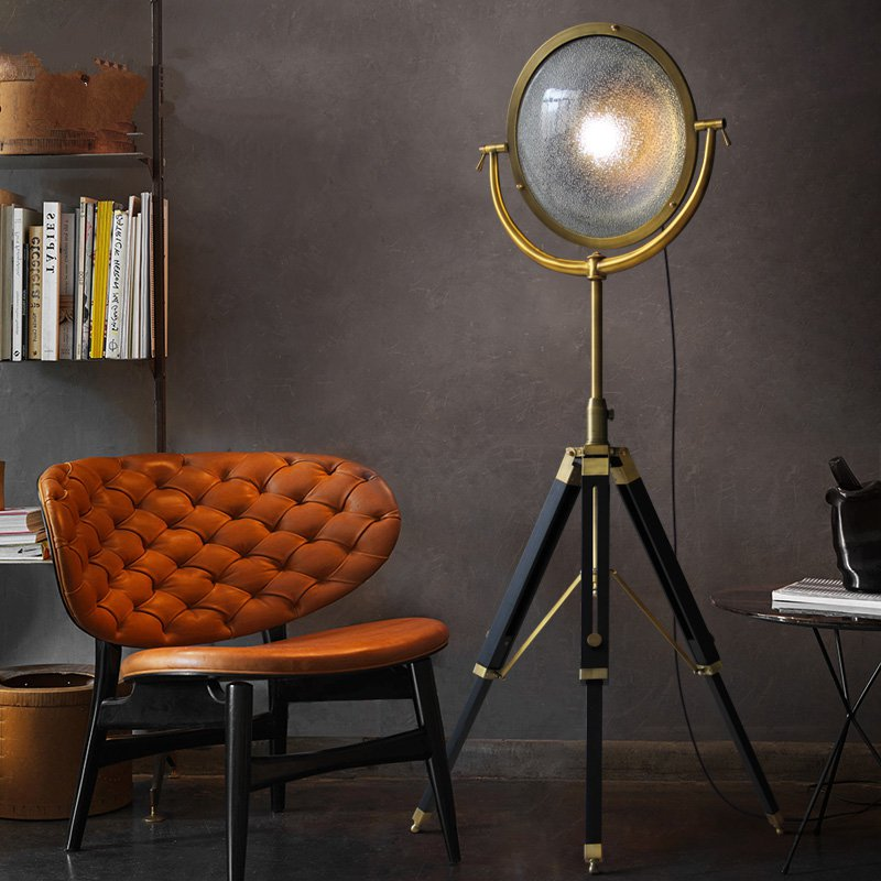 Free Bulb Included Looxury Wooden Industrial Table Lamp Vintage Minimal Style