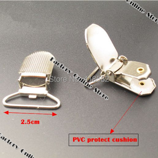T002-100PCS/LOT High Quality Metal Paci Pacifier Suspender Clips Holders With PVC Protect Cushion