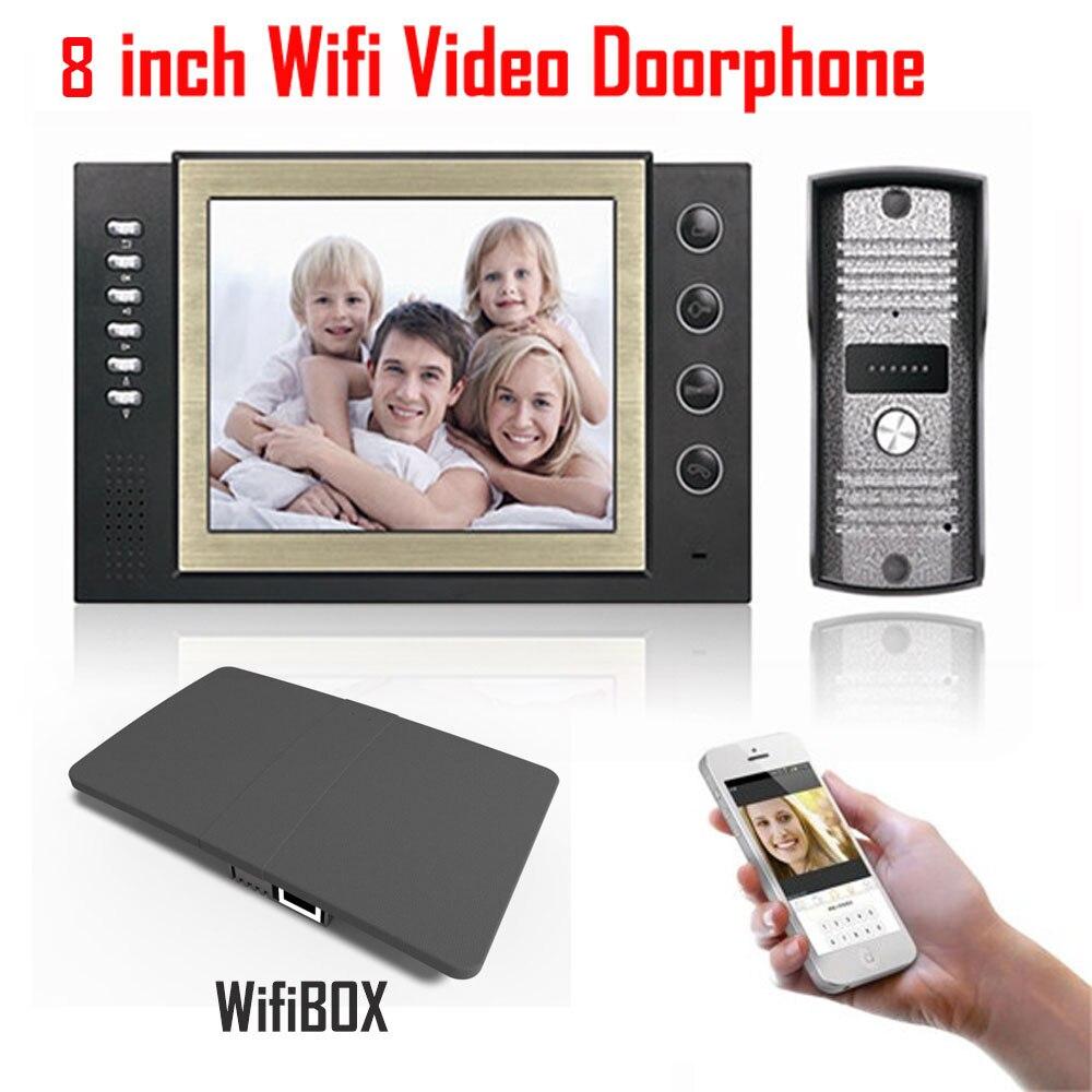8 дюймов ЖК-дисплей монитор 700TVL ИК Камера SD карты видео Запись 3g/4 г Smart Беспроводной Wi-Fi видеомонитор звонок домофона Системы ...