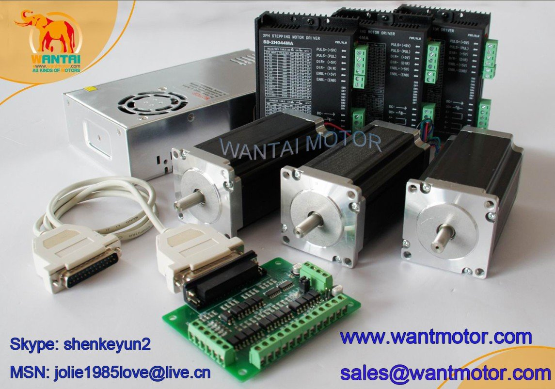 Electrical equipment wantai promotion nema 23 stepper for 2a stepper motor driver
