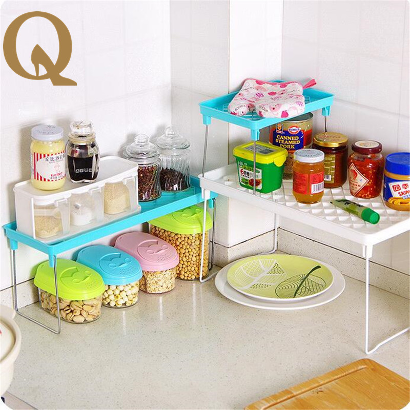 big sale!The kitchen multipurpose foldable multi-layer shelf desktop bathroom bathroom debris storage rack kitchen tools