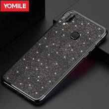YOMILE Glitter Plating Phone Case For Huawei honor 7A Pro 7X 8X Max 9 9i 10 Lite Y5 Y6 Y7 Pro Prime 2017 2018 Capa Bling Cover(China)