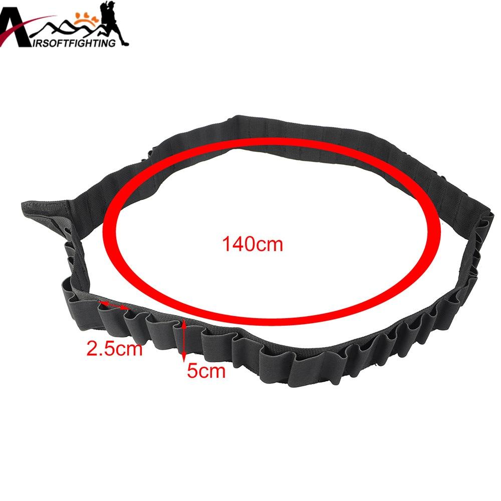 140 * 5cm 50 Shotgun Shell Bandolier Belt 12 GA 20GA Tactical Jakt - Jakt - Foto 6