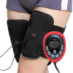 Image 2 - 150 intensität elektrische Wiederaufladbare EMS Bein abnehmen thighToning Gürtel ABS Weibliche oberschenkel Toner Abnehmen Beine Gürtel