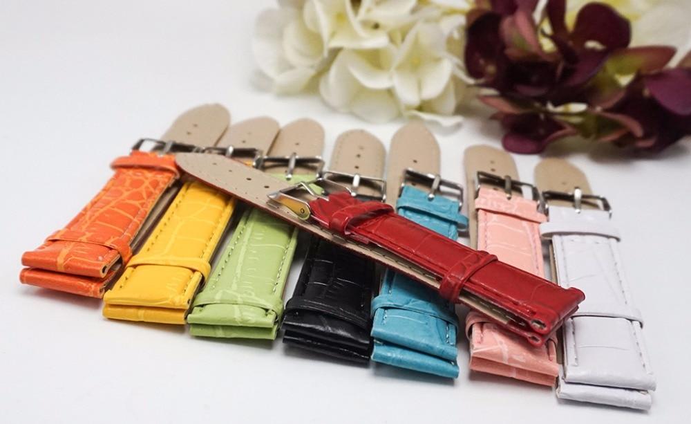 2018 Venta caliente de cuero correa para relojes banda colorida de estilo Casual reloj