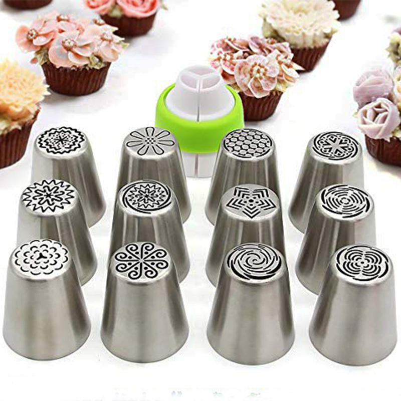 Russian Piping Tips 13pcs Cake Decorating Supplies Flower ...