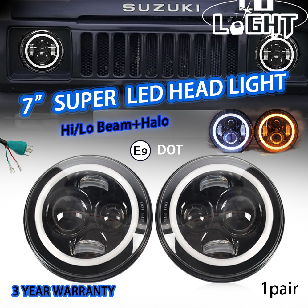 CO LUMIÈRE 7 LED Phare 12 V 24 V Salut/bas 50 W 30 W Auto Phare Oeil D'angle pour Jeep Wrangler JK Hummer Defender Toyota Ford Lada