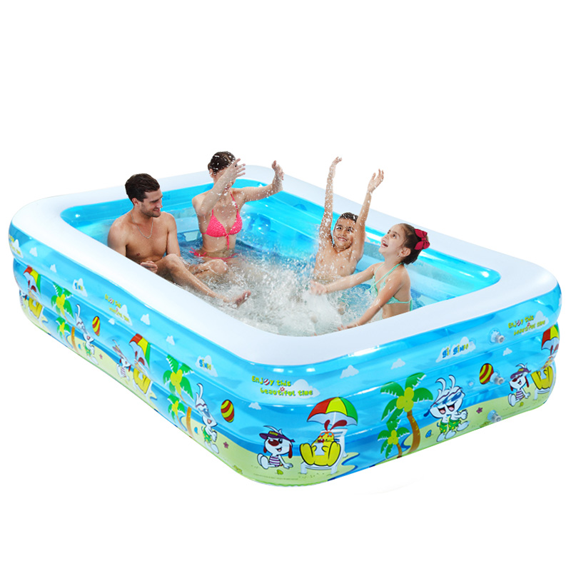 цены Super Large Children Baby Swimming Pool Inflatable Pool for Babies Adults Family Swimming Pool Soft Water Park Baby Pool C01