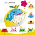 SAFEBET креативный детский зонт с ушками  милые Мультяшные зонты с бабочкой  Детские Зонты с животными  Прямая поставка