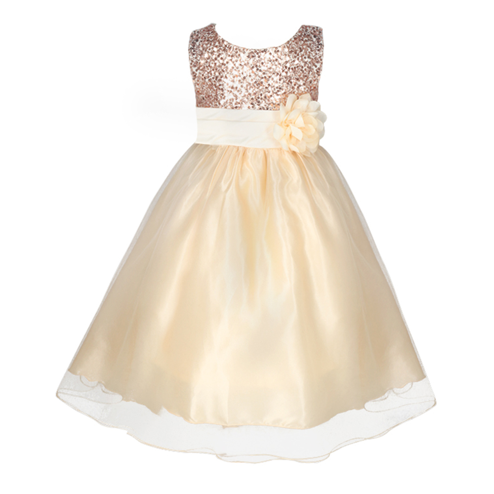 2016 newest fashion sleeveless flower girls princess for Wedding party dresses for women