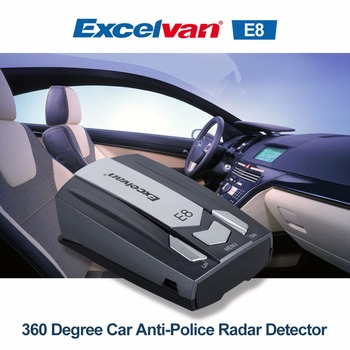 Clear Stock Excelvan E8 Car Radar Detector 360 Degree 16 Full Band Speed Safety Anti-Police Scanning Advanced Voice Alert Laser