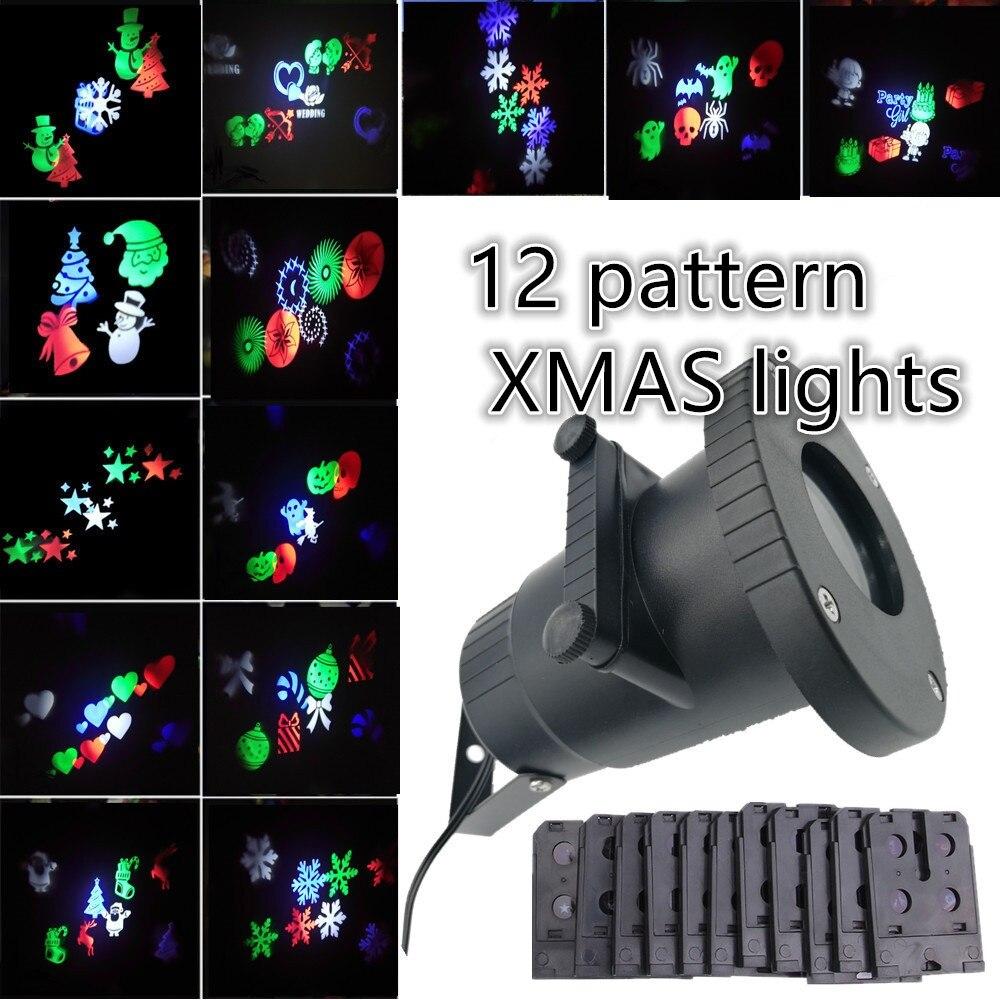 DHL Водонепроницаемый лазерный проектор Лампы для мотоциклов свет этапа Санта Клаус сердце снег Рождество Пейзаж сада лампы Наружное освеще…