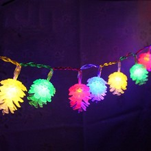 DCOO 20/30/50 LED Solar Pinecone String Lights Waterproof Fairy Lights for Parties Thanksgiving Decorative Christmas Tree Lights