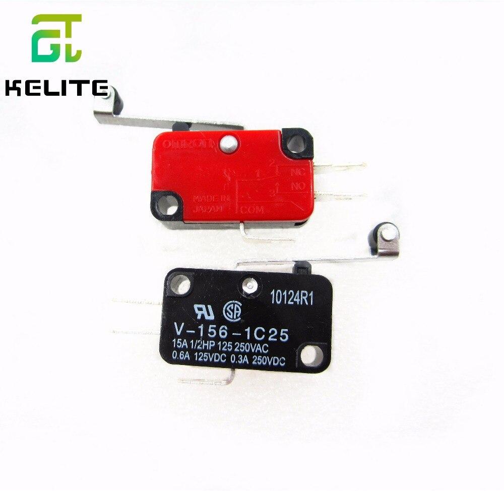 HAILANGNIAO 1 шт. серебряные контакты высокого качества микропереключатель V-156-1C25, переключатель мгновенного действия