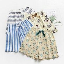 019 Летний досуг короткие штаны для женщин сна нижняя часть пижамы печати Хлопок Свободные домашние шорты