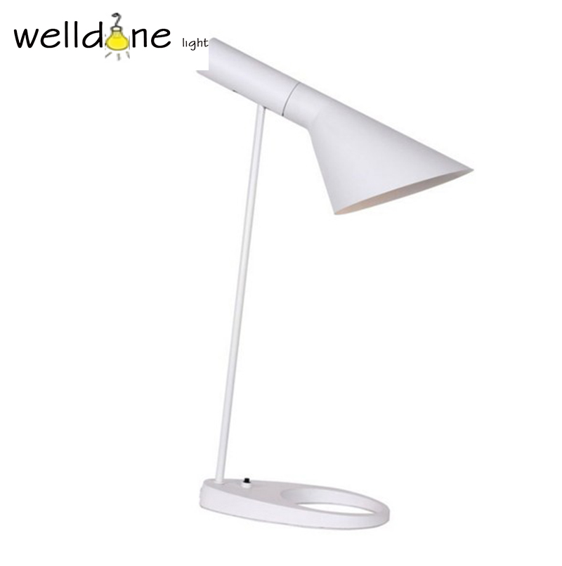 Creative AJ Table Lamp For master bedroom Living Room Modern Louis Poulsen Desk Lamp free shipping led bar table plastic luminous furniture high cocktail drinking table for living room dining room garden club party desk