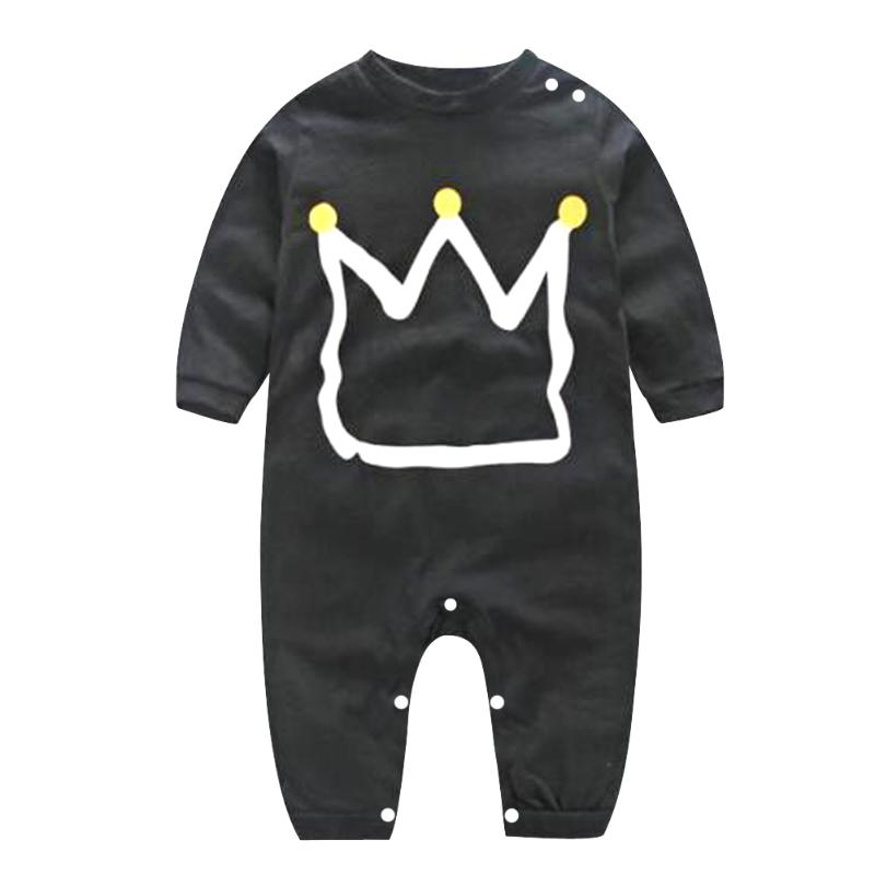 Newborn Baby Black   Romper   Clothes Overall Children's   Rompers   Boys Toddler Kids Cotton Jumpsuit Playsuit Clothing Outfit