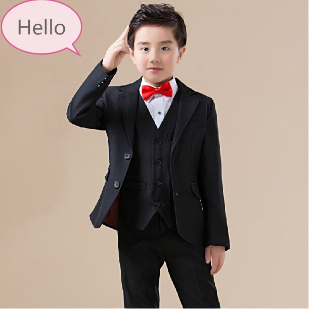 2016 new arrival fashion baby boys kids blazers boy suit for weddings prom formal spring autumn black dress wedding boy suits high quality 2016 new arrival fashion baby boys kids blazers boy suit for weddings prom formal dark blue dress wedding boy suits