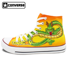 High Top Yellow Converse All Star Men Women Sneakers Dragon Ball Custom Design Hand Painted Shoes