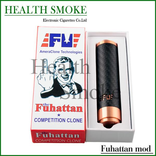 Destaque Fuhattan Mod cigarro eletrônico tubo para baixo de 18650 fibra de carbono Fuhattan Mods Mod