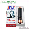 Hot Fuhattan mod Electronic Cigarette Battery Tube for 18650 battery Fuhattan carbon fiber black Mods Magnet Bottom Mod
