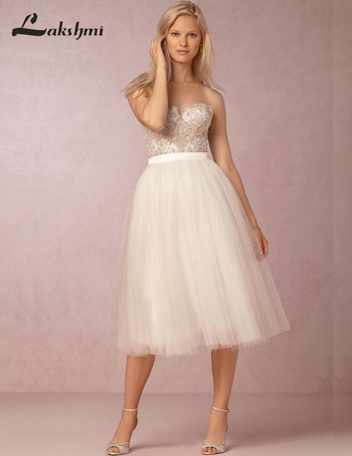 Vintage 1950 S Short Wedding Dresses Custom Made Sweetheart Tulle A Line Blush Mini Reception Gowns