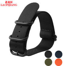 Laopijiang Watch with NATO nylon belt adapter Kelpie watchband 20mm waterproof thickening fashion watches accessories