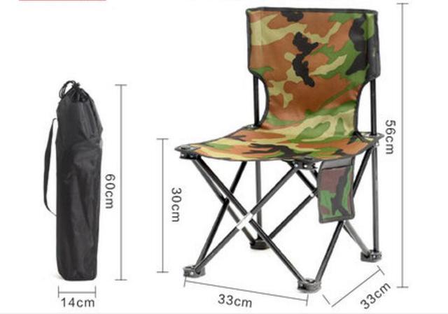 Top qualidade 56*33*30 cm camuflagem Ocasional de acampamento Ao Ar Livre portátil Cadeira Dobrável cadeira de pesca cadeira do Lazer de Praia