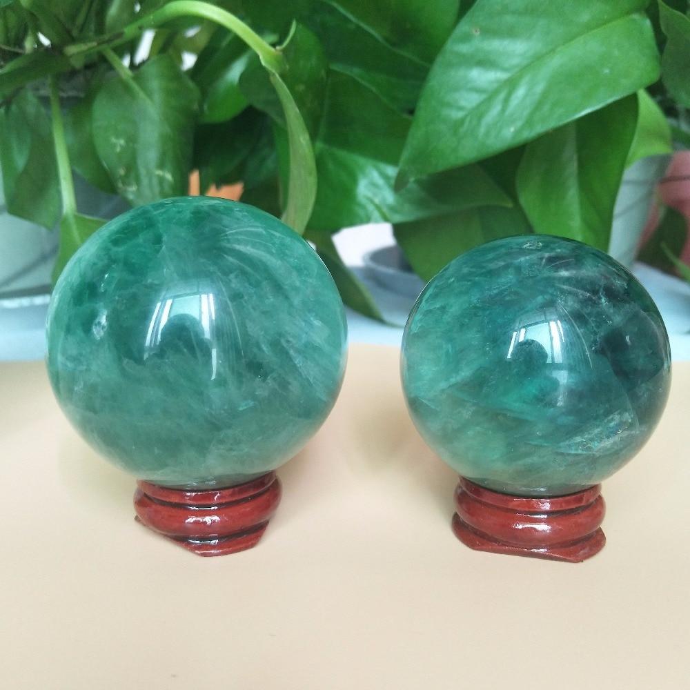 50-55mm AAAAA+Natural Green Fluorite Crystal Ball Family Decorative Ball Halloween Christmas Gift