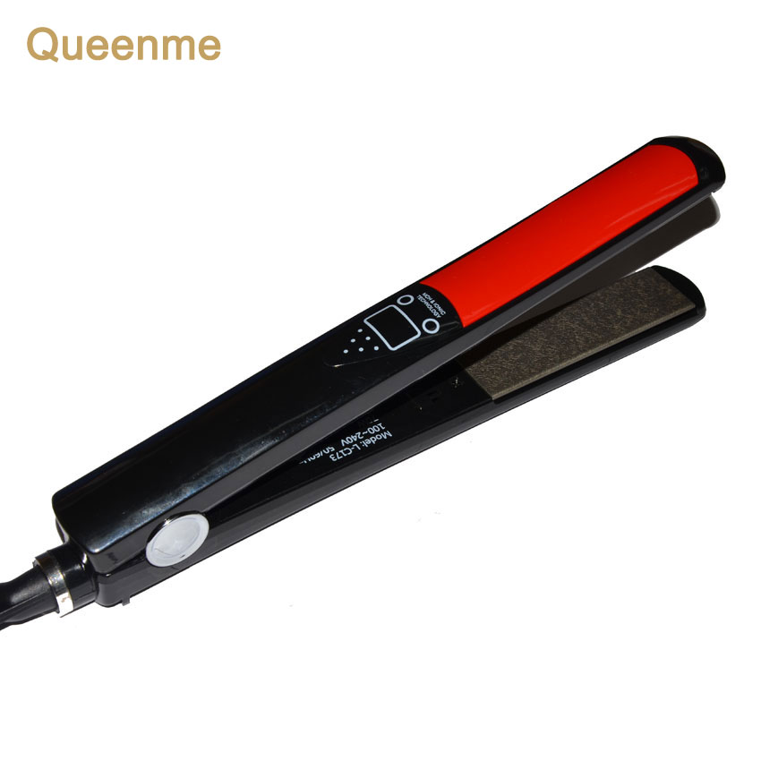 Queenme 30s Fast Hair straightener Brush LCD Digital Anti Static Ceramic Hair Straightening Iron 100-240V Professional Flat Iron straightening iron brush new portable fast hair styling tools electric massage flat iron lcd display hair straightener brush