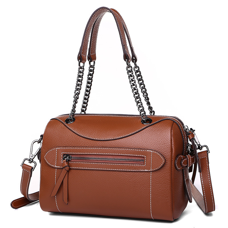 9249 New Fashion Boston Bag Cowhide Leather handbag Genuine leather Messenger Bags Women Shoulder bag soft cowhide genuine leather women shoulder bags fashion handbags simple european style boston messenger bag pillow female packs