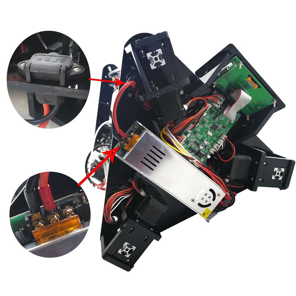 2017 дешевые 3D-принтеры S Настольный лазерный гравер коссель DIY Delta 3D-принтеры комплект 32-битный процессор ARM интеллектуальный уровень bitmap файл...