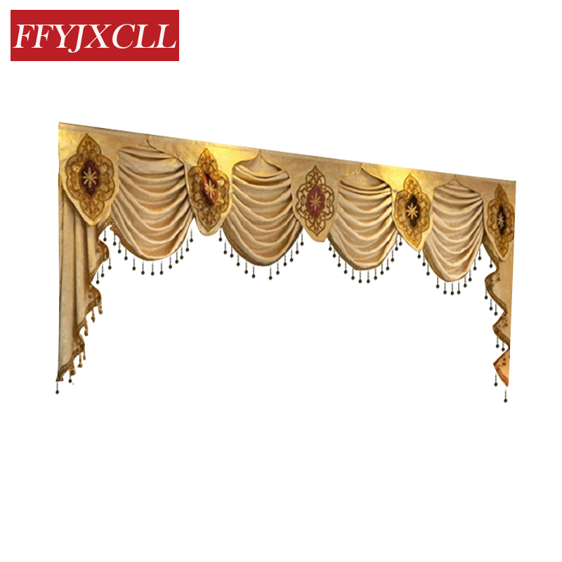1 Piece Pelmet Valance Europe Luxury Valance Curtains for Living Room Window Curtains for Bedroom Curtains for Kitchen window valance