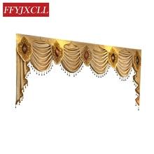 1 Piece Pelmet Valance Europe Luxury Curtains for Living Room Window Bedroom Kitchen