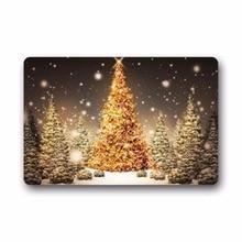 цена на Christmas Tree Art Doormat Rug Indoor/Outdoor/Front Door/Bathroom Mats Bedroom Carpet Doormat