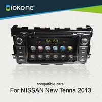 IOKONE Nissan Yeni Tenna 2013 Için Android 4.4 Araba DVD Oynatıcı ile GPS, Ipod, radyo, bluetooth, navigasyon, CANBUS