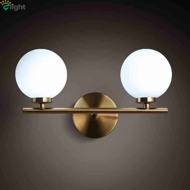все цены на Nordic Simple Glass Ball G4 Led Wall Lamp Lustre Gold Metal Bedroom Led Wall Light Led Wall Lighting Lights Luminaria Fixtures