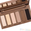 Newest Women's 6 Basic Colors Mini Eyeshadow Palette Earth Color Powder Makeup Cosmetic