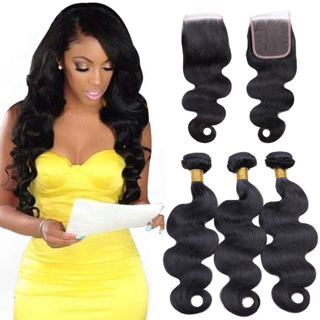 8A Grade Oym Hair Peruvian Body Wave With Closure Mink Peruvian Body Wave 3 Bundles With Closure Cheap Human Hair With Closure