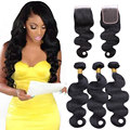 8A Grade Virgin Peruvian Hair Bundles With Closure Mink Peruvian Body Wave 3 Bundles With Closure Cheap Human Hair With Closure