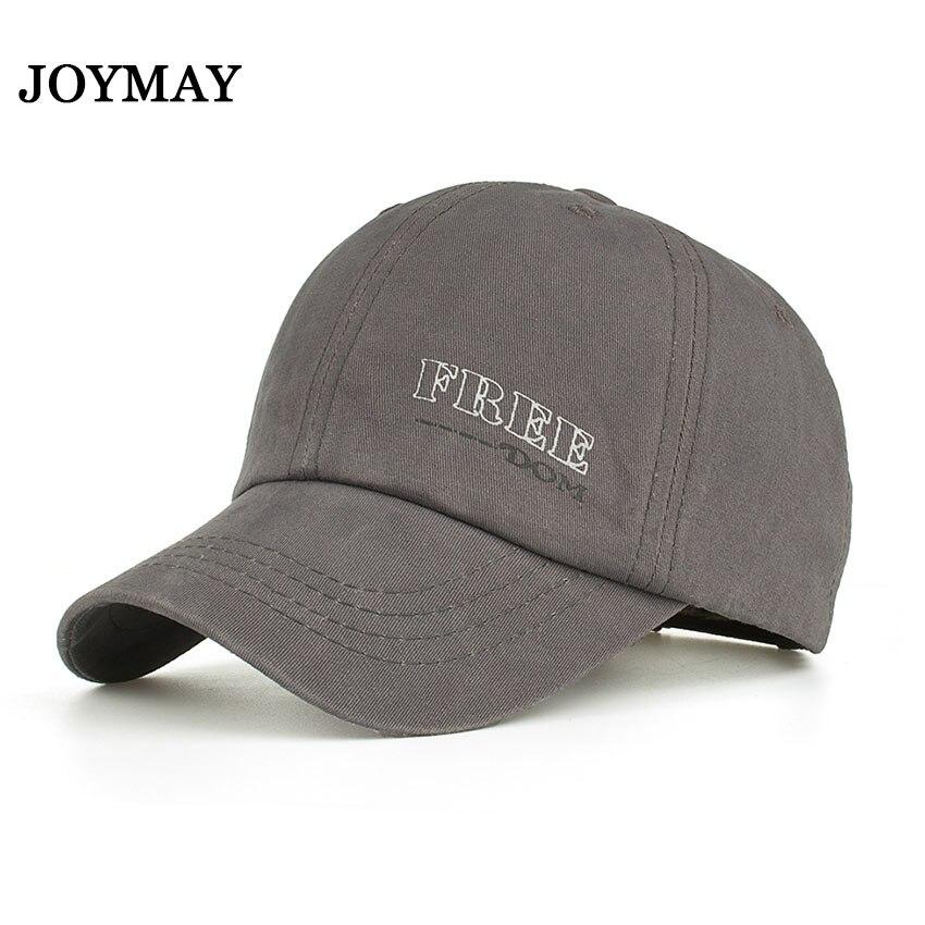 Joymay 2018 NEW ARRIVAL Spring Summer Autumn season Unisex Cotton Plain  Solid color Freedom printing fashion Baseball cap B540 526a8dce69b3