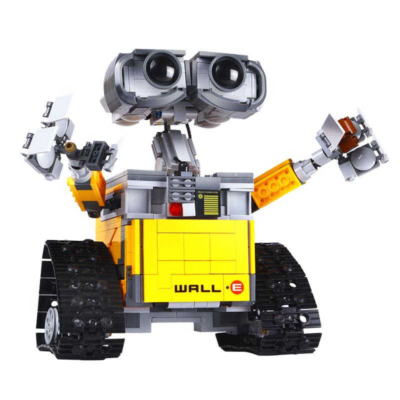 LEPIN 16003(687pcs) ideas Robot WALL E Movie PIXAR Action Figures Assemble Model Minifig Building Blocks minifig Kids Toys Gifts new 687pcs lepin 16003 ideas series wall e lovable robot wall e building block minifigures with legoe 21303 toy kids boy