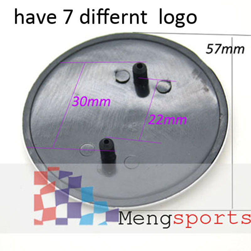 20pcs Bonnet Front ABS Alloy 57mm Emblem Car Styling Badges with 2 Pins Shipping Free