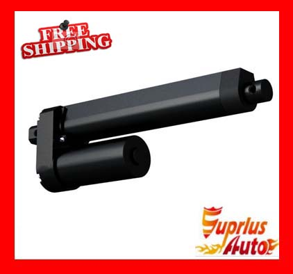 Waterproof 20 (500mm) Travel 12 / 24V Linear Actuator, Maximum Load 3500N / 770lbs Black Linear Actuator Free Shipping